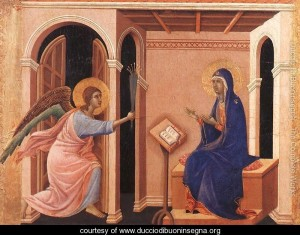 Announcement of Death to the Virgin 1308-11 by Duccio Di Buoninsegna (ca1255-ca1319)