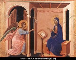 Announcement of Death to the Virgin 1308-11 by Duccio Di Buoninsegna (ca1255-ca1319)